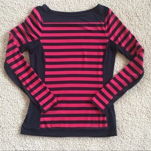 The Limited Shirt Long Sleeve Navy Pink striped S